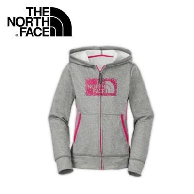 The North Face 女童 抗UV刷毛兜帽外套《灰》A9EE/質輕/保暖外套/帽T (8.5折)