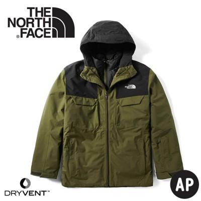 The North Face 美國 男 DryVent兩件式 防水化纖雪衣外套《軍綠橄欖》3M4M/ (8.5折)