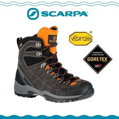 SCARPA 義大利 GORE-TEX 高筒登山鞋《煤灰/木瓜橘》60256-201/防水透氣/高筒 (7.8折)
