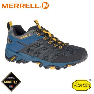MERRELL 美國 男 Moab Fst 2 Gore-Tex 低筒登山鞋《深灰/深藍》48681 (8折)