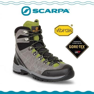 SCARPA 義大利 GORE-TEX 高筒登山鞋《鈦灰/蚱蜢綠》60256-201/防水透氣/高筒 (7.8折)