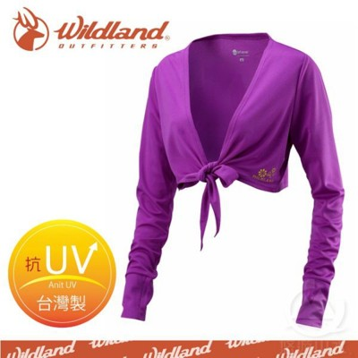 Wildland 荒野 女 抗UV排汗綁帶袖套衣《葡萄紫》W1805-58/吸濕排汗/快乾/防曬外套 (5折)