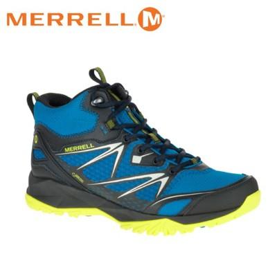 MERRELL 美國 男款 高筒 CAPRA BOLT MID GORE-TEX 登山鞋〈亮藍/黃〉 (8折)