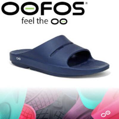 OOFOS 美國 男款 舒壓健康拖鞋 深藍透氣涼鞋/氣墊鞋/舒壓拖鞋/M1100 (9折)