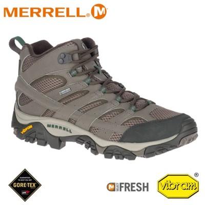 MERRELL 美國 男 MOAB 2 MID GORE-TEX高筒登山鞋《圓石色》ML033317 (8折)