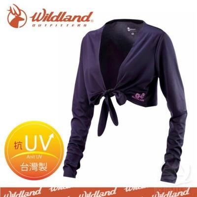 Wildland 荒野 女 抗UV排汗綁帶袖套衣《/黑》W1805-54/吸濕排汗/快乾/防曬外套/ (5折)