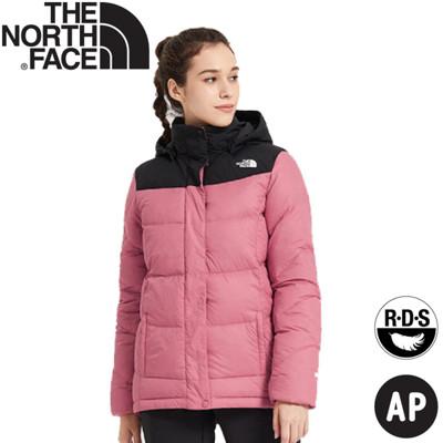 The North Face 女 鵝絨連帽羽絨外套《粉紅》3VRD/羽絨衣/保暖外套 (8.5折)