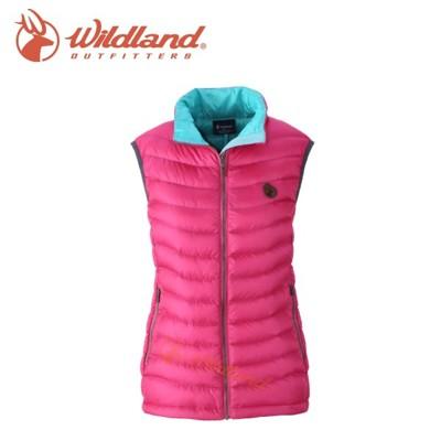 wildland 荒野 女款 700fp輕量羽絨背心 桃紅連帽外套/羽絨外套/保暖外套/ 0a321 (5折)