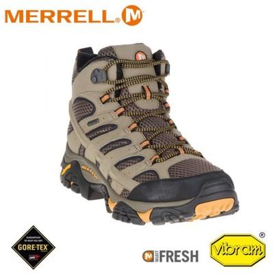 MERRELL 美國 男 MOAB 2 MID GORE-TEX寬楦高筒登山鞋《棕色》ML06057 (8折)