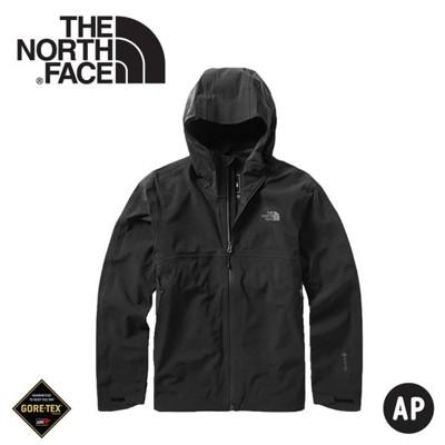 The North Face 男 GORE-TEX單件式連帽防水外套《黑》49B8/衝鋒衣/防水外套 (8.5折)