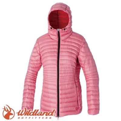 Wildland 荒野 女款 700FP輕量時尚連帽羽絨外套《粉紅》連帽外套/羽絨衣/水鳥羽絨/0A (5折)