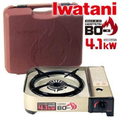 Iwatani 岩谷 特價 4.1K休閒瓦斯爐 附盒日本製/4.1kw/防風防爆瓦斯爐/附收納盒/卡 (4.6折)