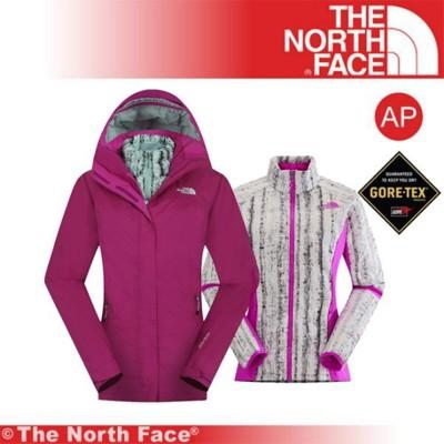 The North Face 女 GTX羽絨兩件式外套 《紫/紅》CUF1-146/保暖夾克/適登山 (8.5折)