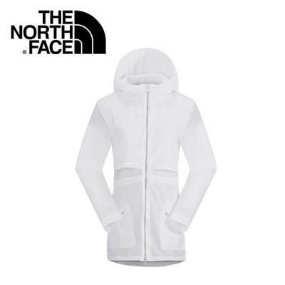 The North Face 女 風衣外套 白  風衣外套/防風外套/薄外套/ NF00CG2B (8.5折)