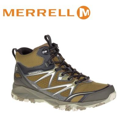 MERRELL 美國 男款 高筒 CAPRA BOLT MID GORE-TEX 登山鞋 〈深橄欖綠 (8折)