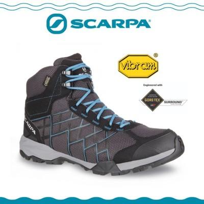 SCARPA 義大利 HYDROGEN HIKE GTX登山鞋《深灰/湖水藍》63335-200/防 (8折)