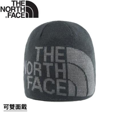 The North Face 雙面LOGO保暖毛帽《黑/瀝灰》AKND/保暖帽/毛帽 (8.4折)