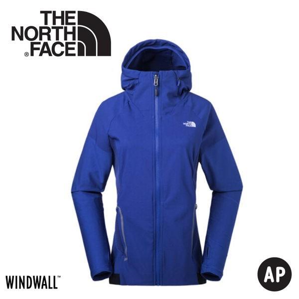 the north face 女 windwall 防風防潑連帽外套藍3chv/動夾克/風衣