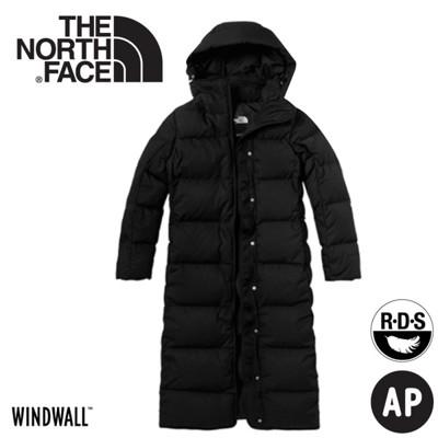 The North Face 美國 女防風保暖長版羽絨外套《黑》3VUW/羽絨衣/防風外套 (8.5折)