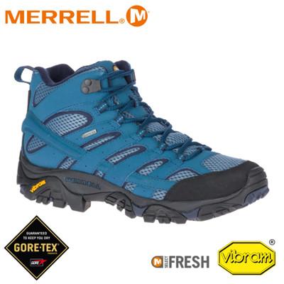 MERRELL 美國 男 MOAB 2 MID GORE-TEX 戶外多功能登山鞋《銀河藍》0348 (8折)