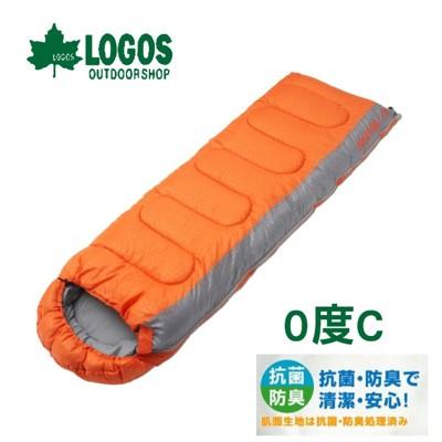 LOGOS 日本 LOGOS (0度) 加大抗菌防臭丸洗睡袋 橙化纖睡袋/睡袋/登山/露營睡袋/保暖 (8.4折)