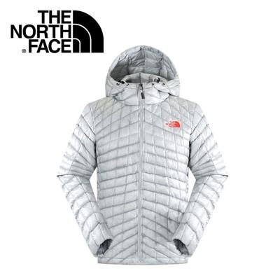 The North Face 男 ThermoBall暖魔球 保暖兜帽外套 灰白/灰藍暖魔球外套/ (8.5折)