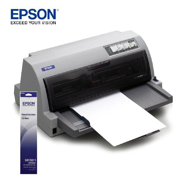 另搭1支專用色帶epson lq-690c 24針點矩陣印表機