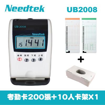 2年保固needtek 優利達ub-2008優美小卡專用四欄位打卡鐘 (7.8折)
