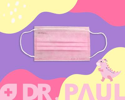 Dr. PAUL-台灣製造 雙鋼印 醫療用口罩-兒童-50入/盒 (2.7折)