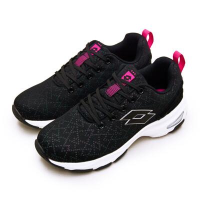 lotto增高厚底美型健走鞋 easy wear 系列 黑桃紅 1190 女 (7.8折)