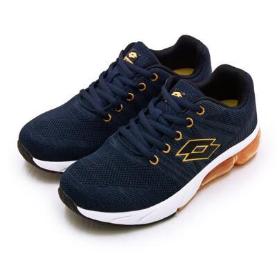 lotto專業飛織避震氣墊慢跑鞋 SUPER LITE系列 藍橘 1616 女 (7.8折)