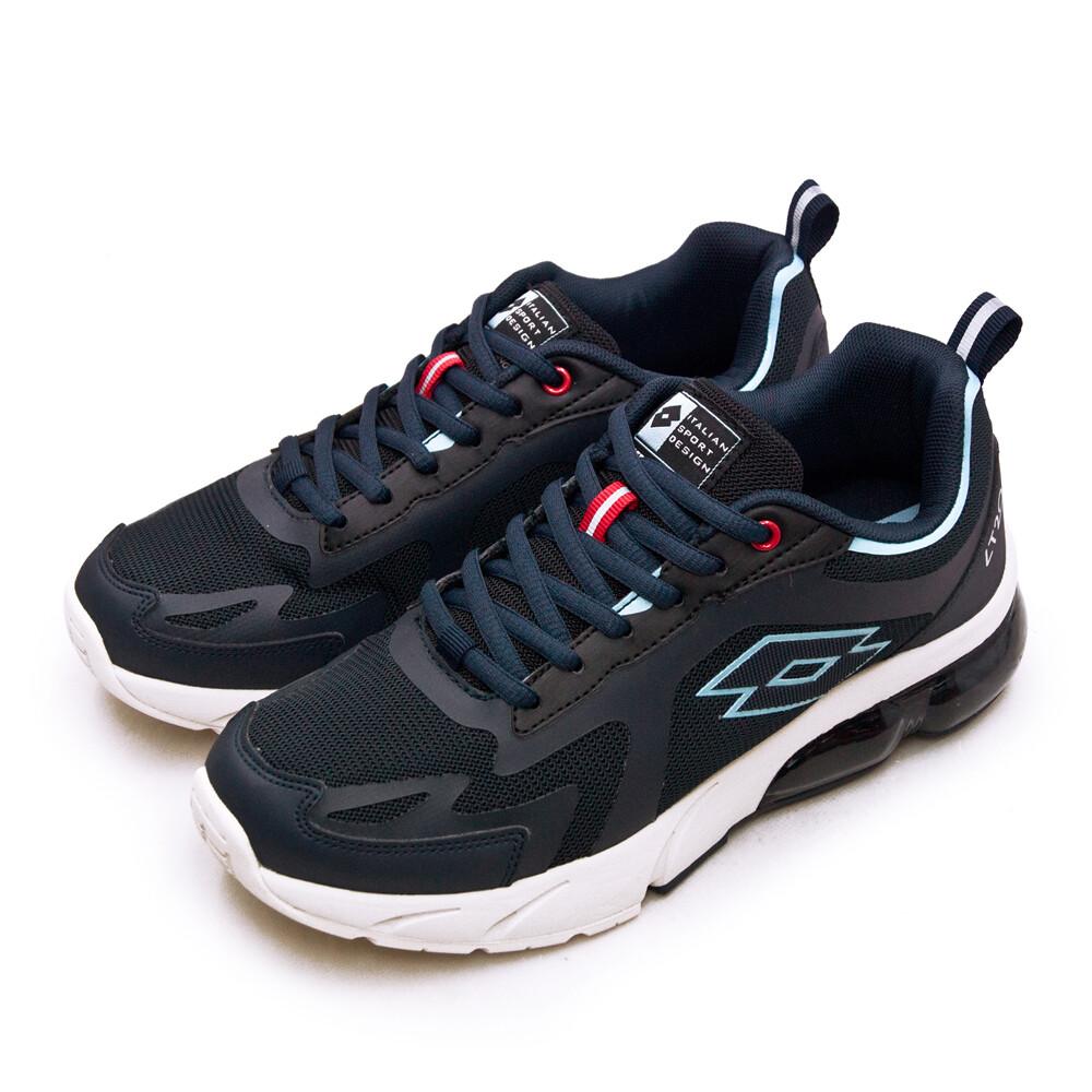 lotto專業避震氣墊慢跑鞋lt20系列 藍黑米 2396 男