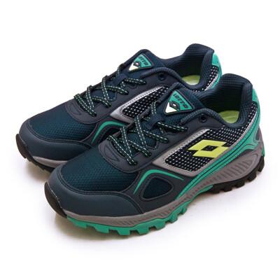 lotto專業防潑水郊山越野跑鞋 cross run 跨越叢林系列 藍灰 1056 女 (8.8折)