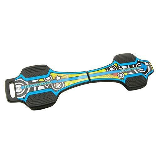 韓國landway 發光輪活力蛇板 蛇行滑板 bl 藍黃 (贈背帶) - bl 藍黃