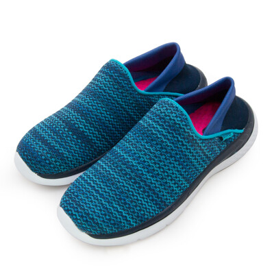 lotto 後踩輕量飛織健走鞋 EASY WEAR 系列 藍 6006 女 (6.8折)