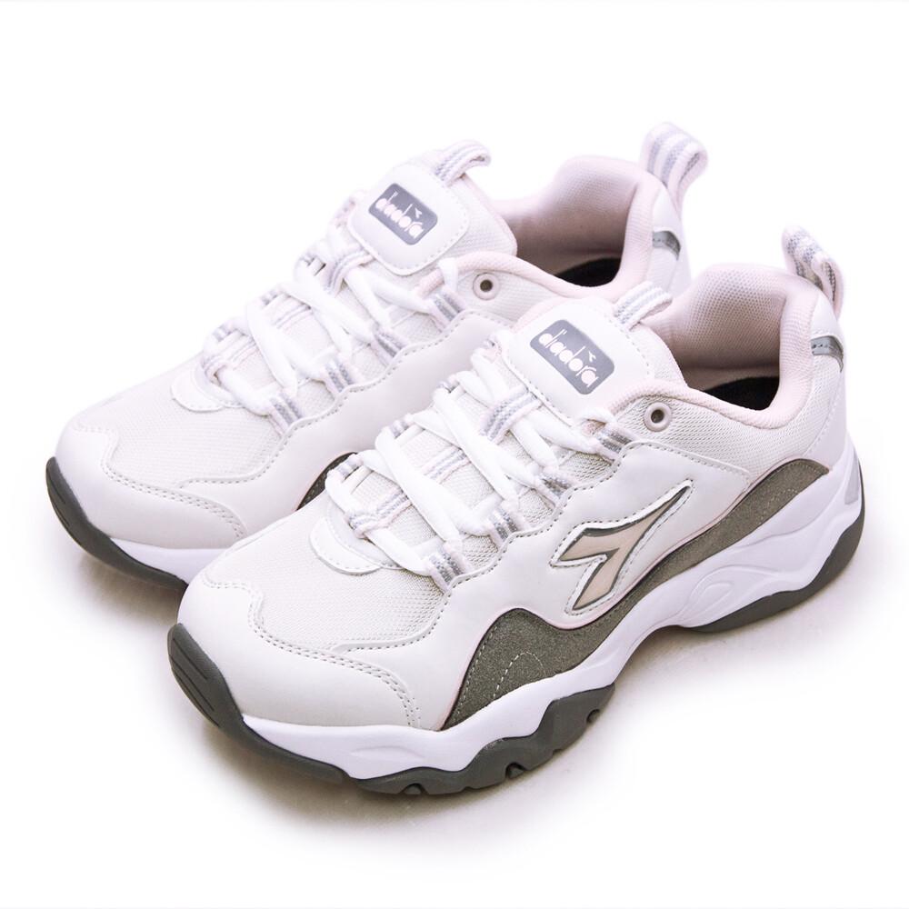 diadora 迪亞多那 復古時尚厚底運動鞋 潮流老爹鞋系列 米灰粉 33616 女
