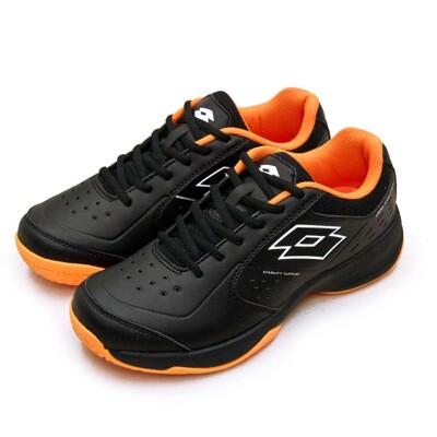 lotto全地形入門級網球鞋 SPACE 600系列 附贈橘色鞋帶 黑橘 2230 男 (7.8折)