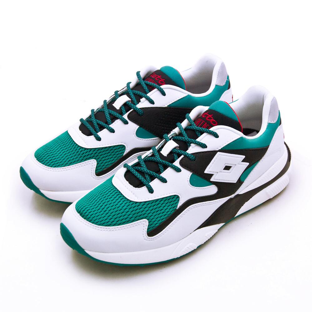 lotto經典厚底復古多功能運動鞋 sirius 老爹鞋系列 白綠黑 1215 男