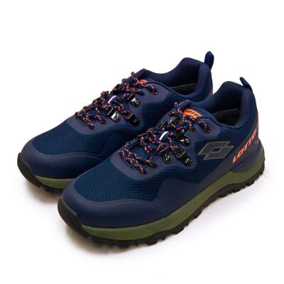 lotto專業防水郊山戶外越野跑鞋 FALCO隼系列 藍綠橘 2556 男 (8.7折)