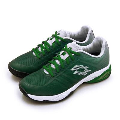 lotto進階旗艦級網球鞋 MIRAGE 300 II系列 紅土 綠白 2136285YD 男 (8折)