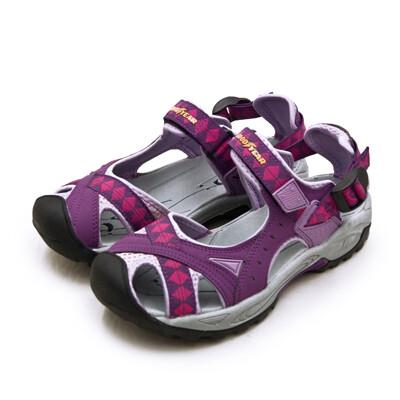 goodyear固特異 排水透氣輕便水陸護趾涼鞋 紫灰桃 82707 女 (8.7折)