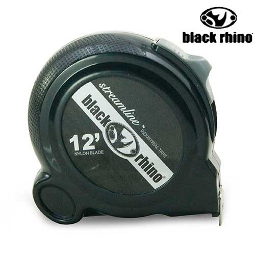 美國黑犀牛 專業手工具 streamline rhino tape 12英呎捲尺 #097