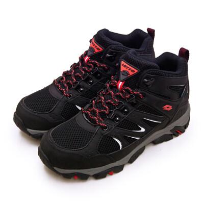lotto專業多功能防水郊山戶外健行登山鞋 sabre mid 3系列 黑灰 1250 男 (7.8折)