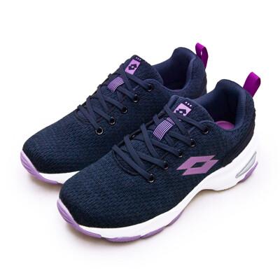 lotto增高厚底美型健走鞋 easy wear 系列 深藍紫 1196 女 (7.8折)