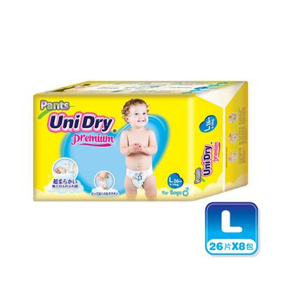 Unidry優力褲 嬰兒褲型紙尿褲(男孩)-L208片(26片x8包)/箱購