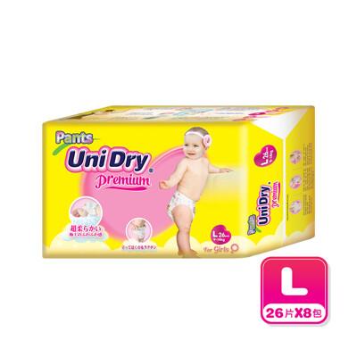 Unidry優力褲 嬰兒褲型紙尿褲(女孩)-L208片(26片x8包)/箱購