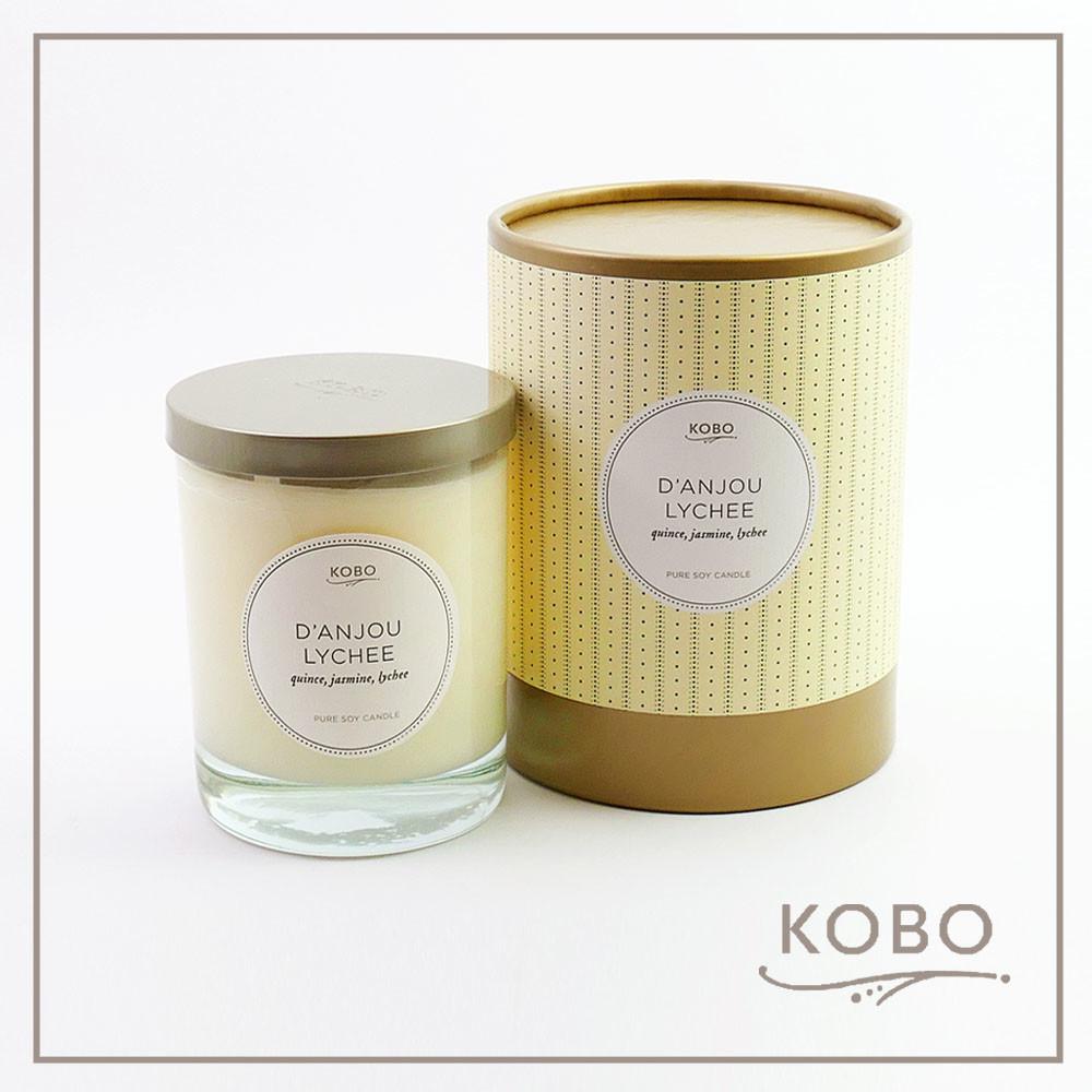 kobo美國大豆精油蠟燭 - 梨與荔枝 (330g/可燃燒80hr)