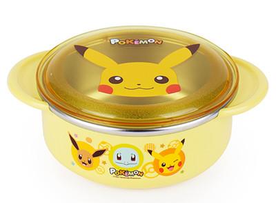 韓國直送_寶可夢精靈皮卡丘兒童不鏽鋼碗( 含防塵蓋)350ml (8.6折)