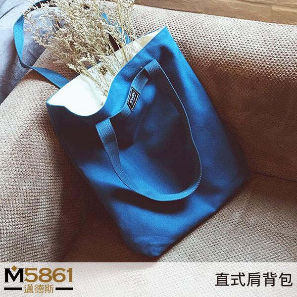 帆布包純棉 shuobu 帆布袋 側背包 肩背包肩背+手提土耳其藍