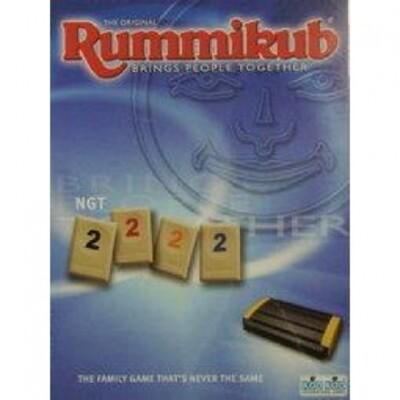 贈送沙漏  拉密數字牌旅行版  Rummikub Travel Voyager NGT 繁體中文正版 (10折)